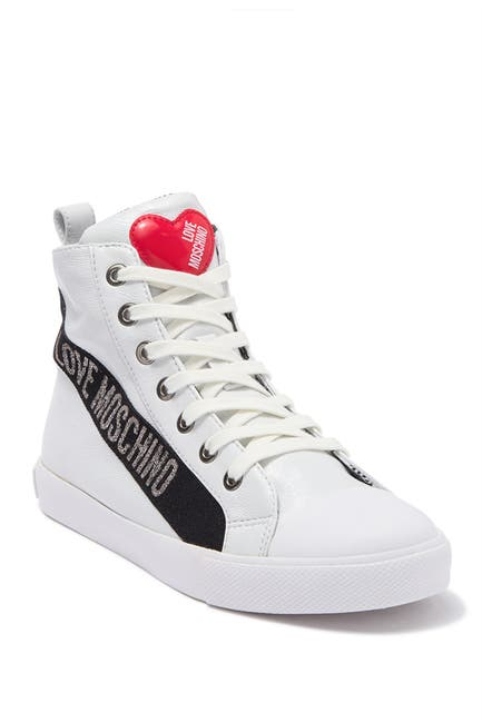 Image of LOVE Moschino Logo High-Top Sneaker