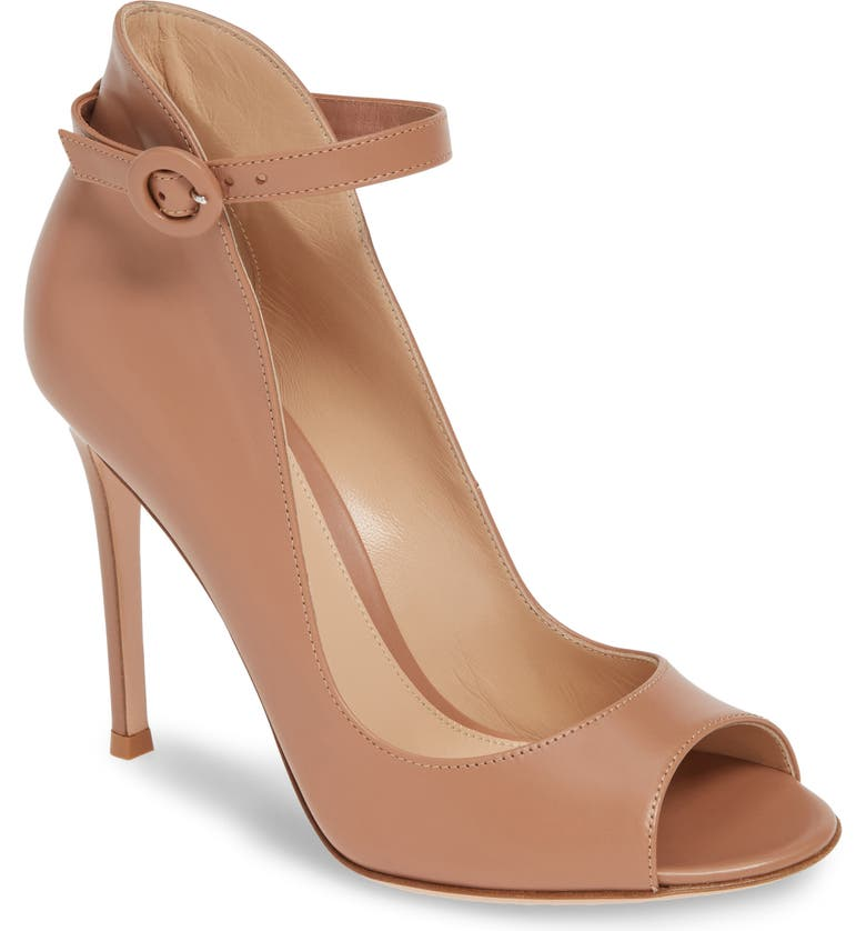GIANVITO ROSSI Ankle Strap Sandal, Main, color, PRALINE LEATHER