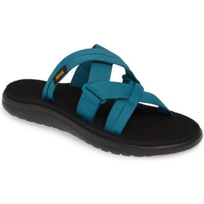 Teva Voya Infinity Water Friendly Slide Sandal, Blue
