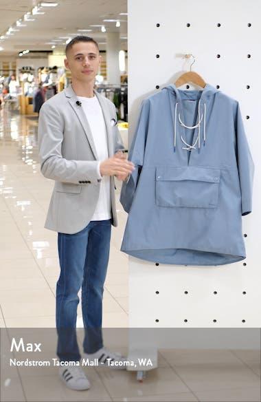x ALEXACHUNG Pip Lace-Up Waterproof Hooded Raincoat, sales video thumbnail