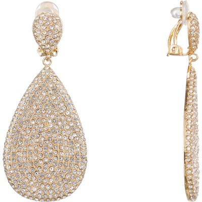 Nina Teardrop Pave Earrings