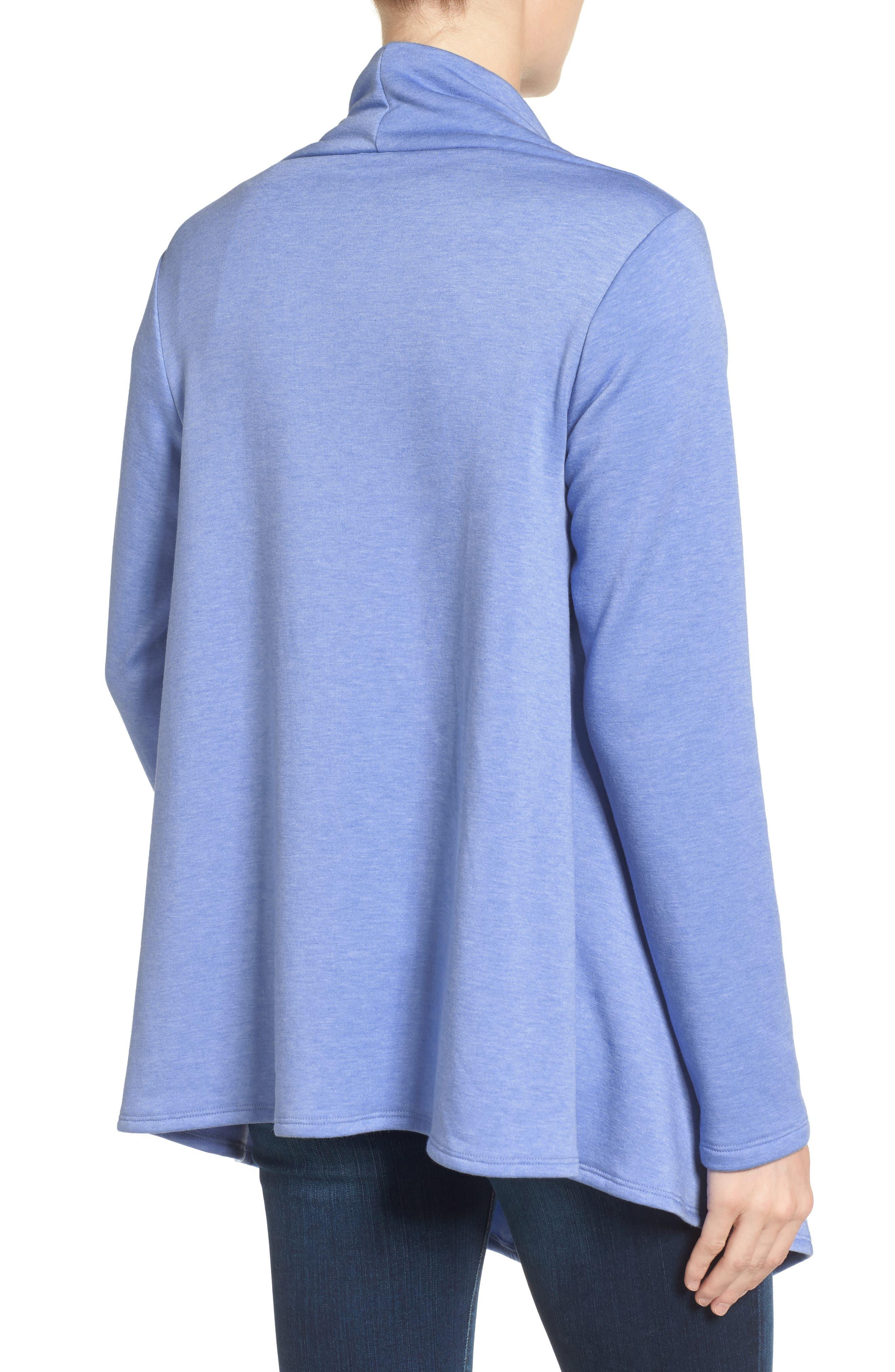 ,                             One-Button Fleece Wrap Cardigan,                             Alternate thumbnail 151, color,                             474