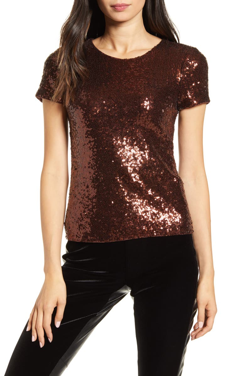 BAILEY 44 Edie Sequin Tee, Main, color, PINOT