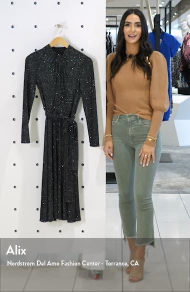 Glitter Long Sleeve Mock Neck Dress, sales video thumbnail