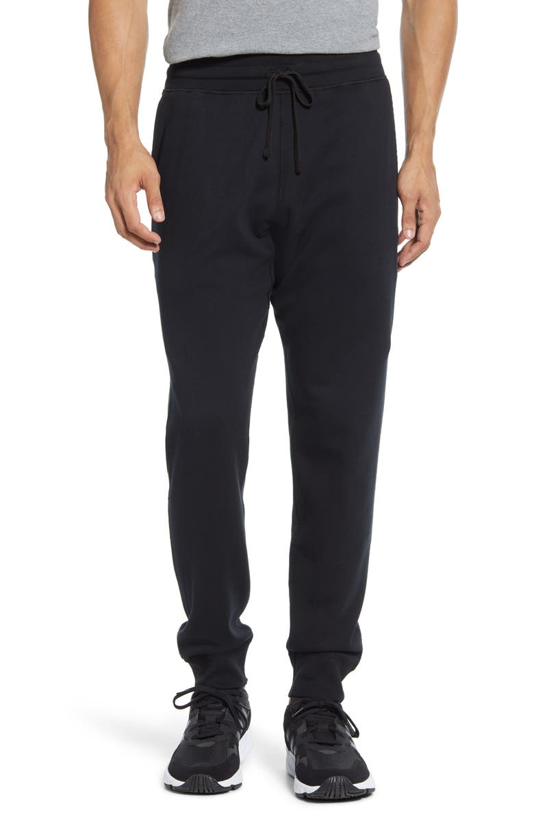 REIGNING CHAMP Slim Fit Sweatpants, Main, color, HEATHER BLACK