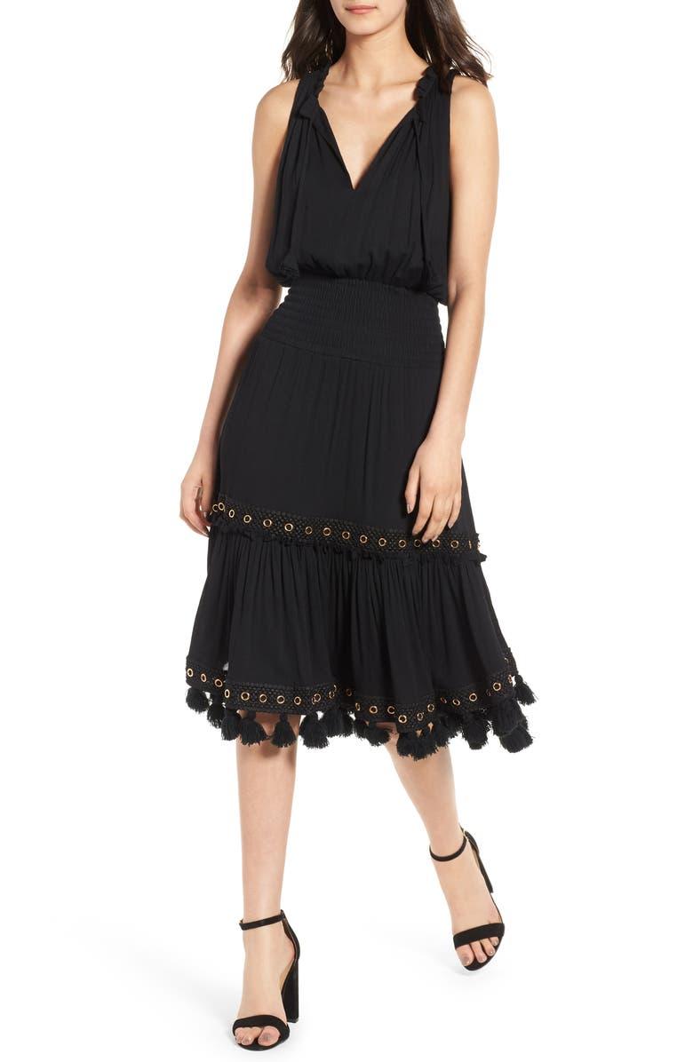 MISA LOS ANGELES Zelda Sleeveless Midi Dress, Main, color, 006