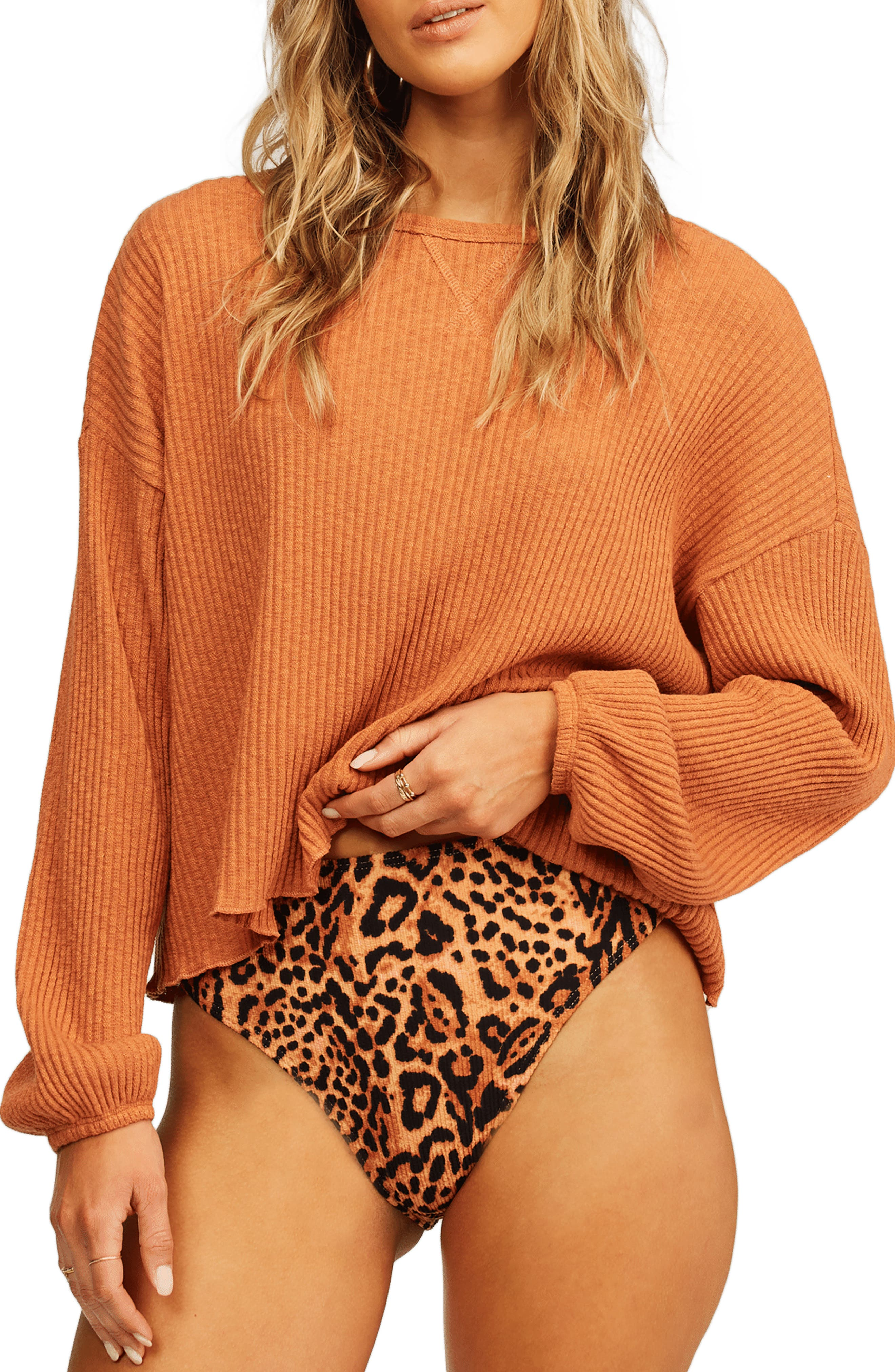 Come Through Waffle Knit Top