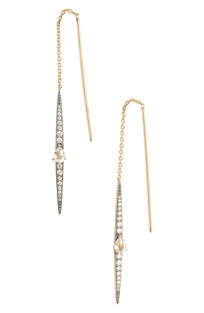 NADRI Sirena Stick Threader Earrings, Main, color, 710