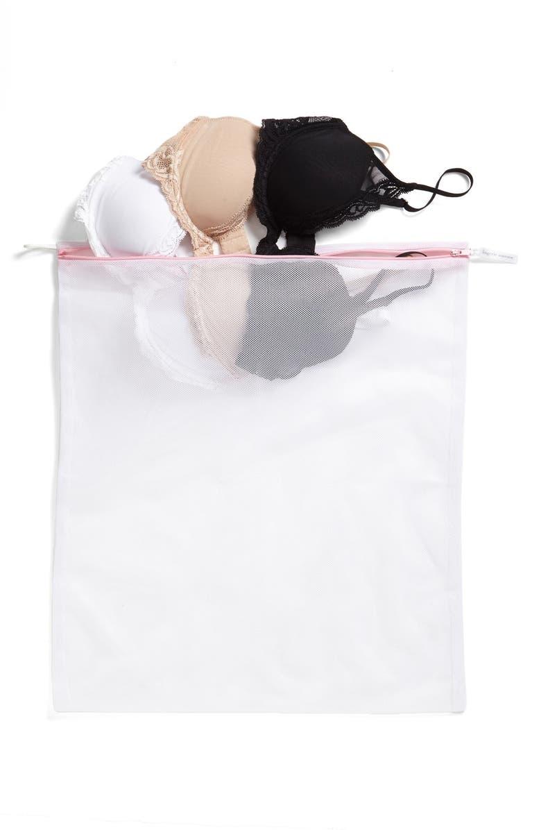 NORDSTROM LINGERIE Nordstrom Large Wash Bag, Main, color, WHITE