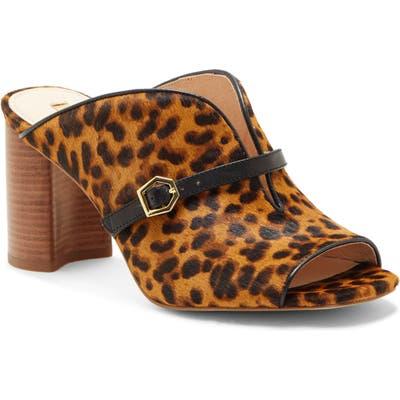 Louise Et Cie Kimba Genuine Calf Hair Slide Sandal, Brown