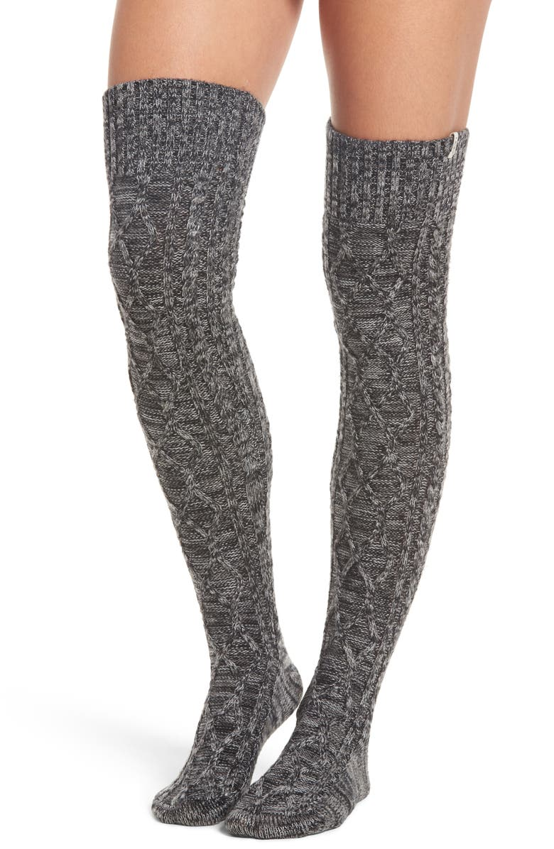 UGG<SUP>®</SUP> Cable Knit Over the Knee Socks, Main, color, 031