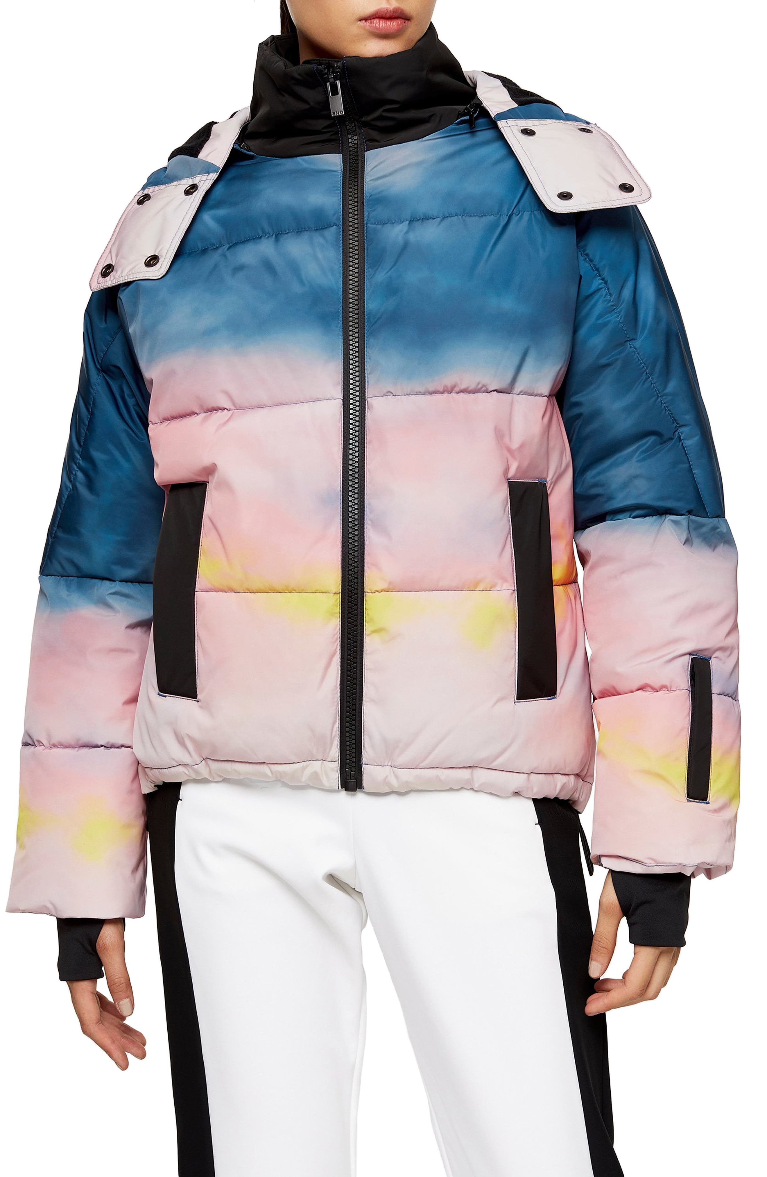 Topshop Ski Suit Snow All In One Inner Size UK 6 8 10 12 14