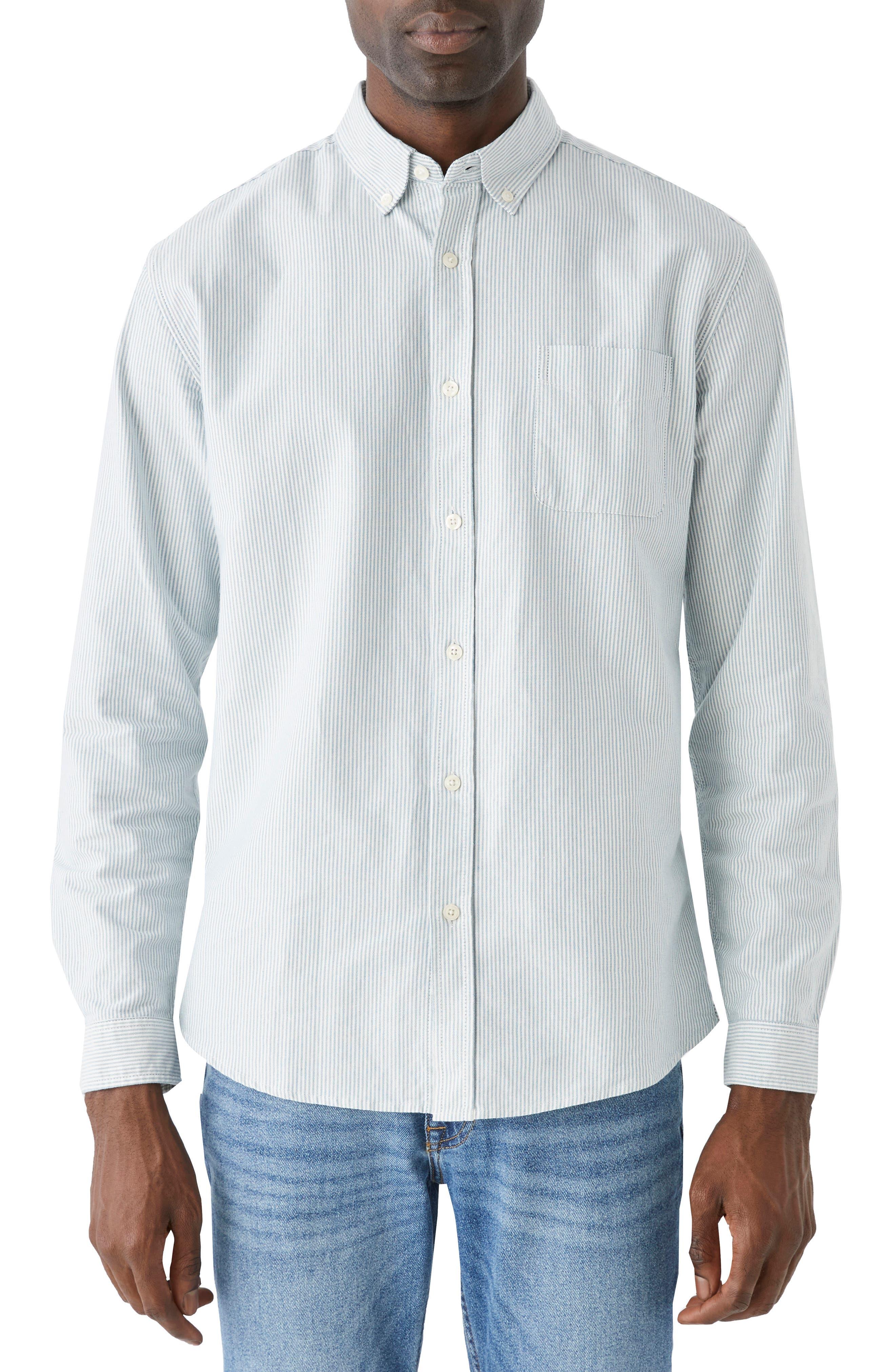 Stripe Jasper Organic Cotton Blend Button-Down Shirt