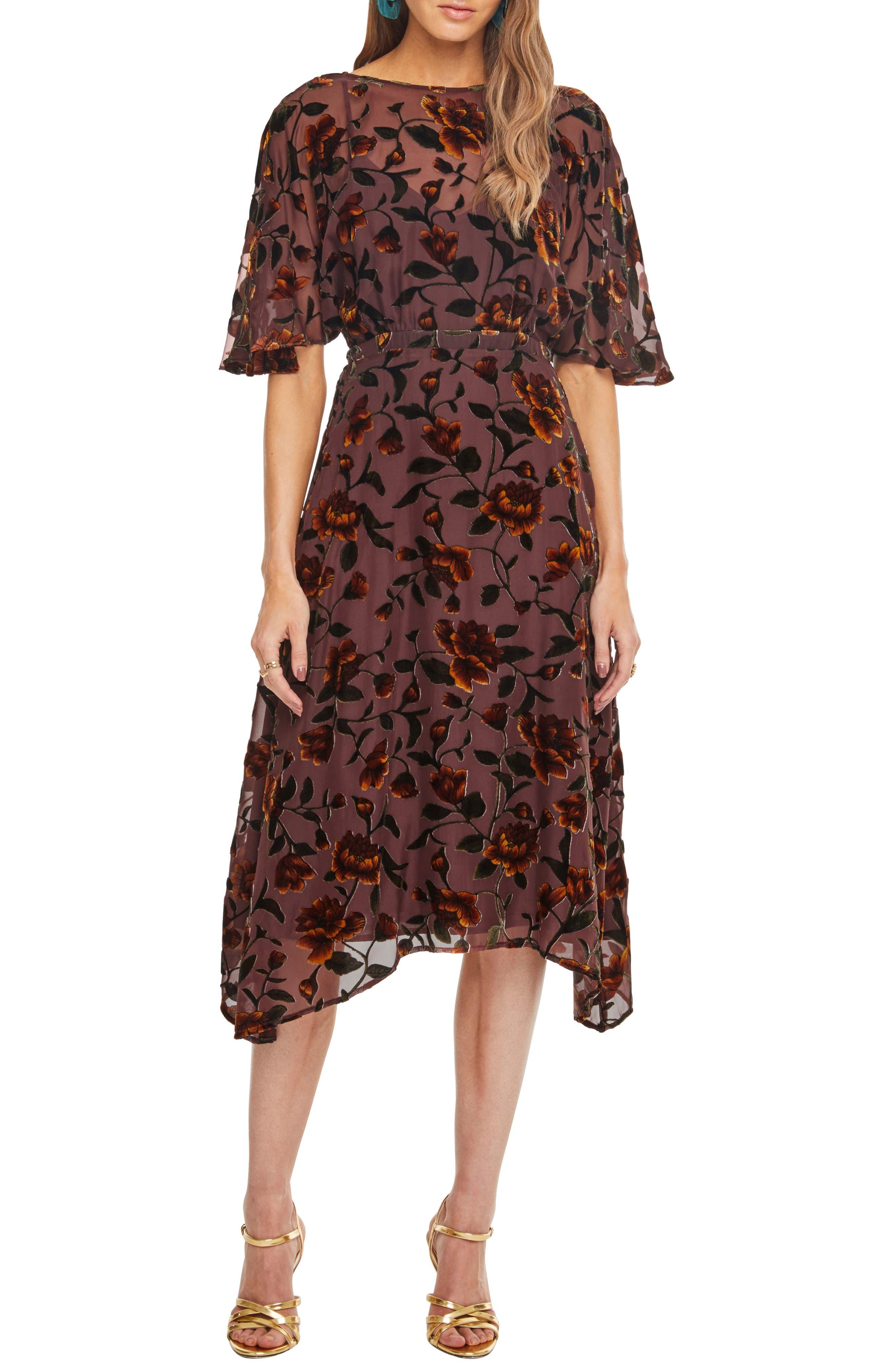 Astr The Label Sadie Floral Burnout Dress