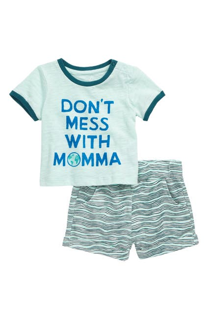 Image of PEEK ESSENTIALS Fynn Earth Day Ringer T-Shirt & Shorts Set