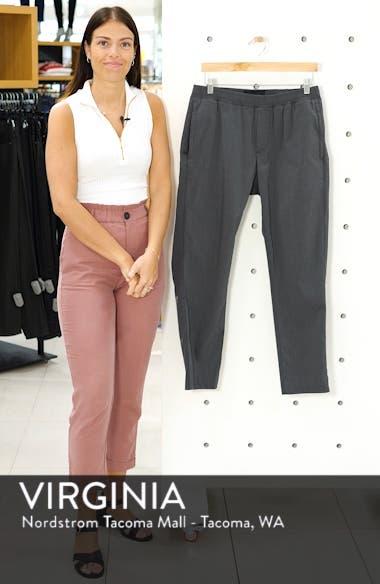 Slim Fit Elastic Waist Dress Pants, sales video thumbnail