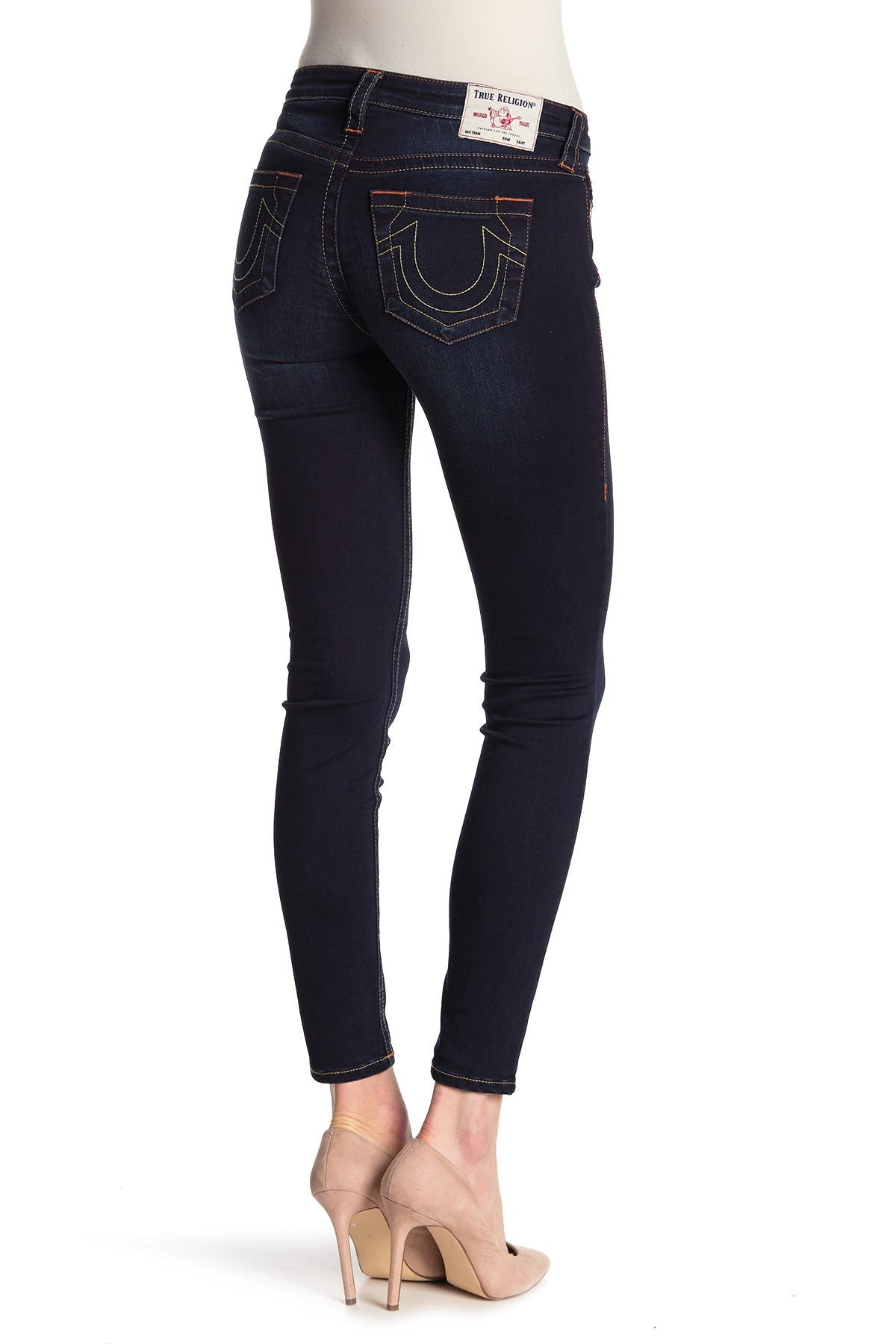 Image of True Religion Halle Om Core Mid Rise Skinny Jeans