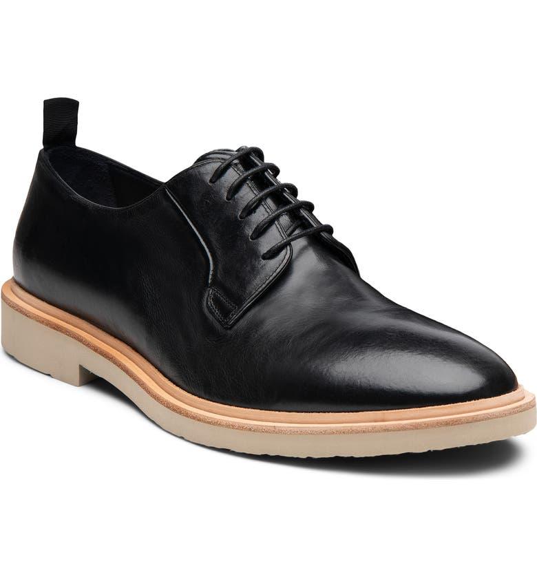 GORDON RUSH Fletcher Buck Shoe, Main, color, BLACK LEATHER
