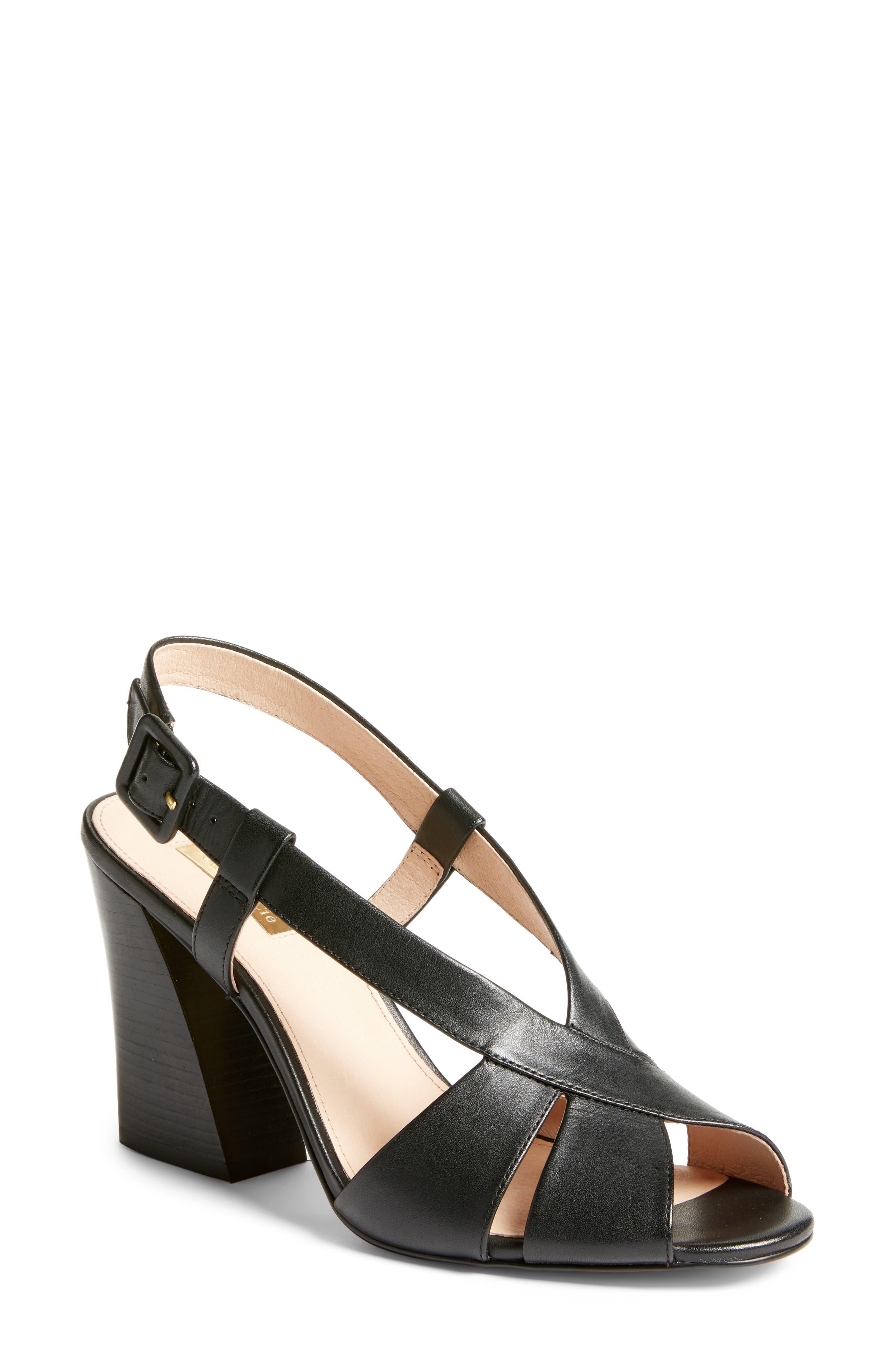 60s Shoes, Boots | 70s Shoes, Platforms, Boots Womens Louise Et Cie Kalee Block Heel Sandal $129.95 AT vintagedancer.com