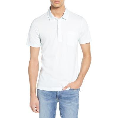 Billy Reid Pensacola Slim Fit Garment Dye Polo, Blue