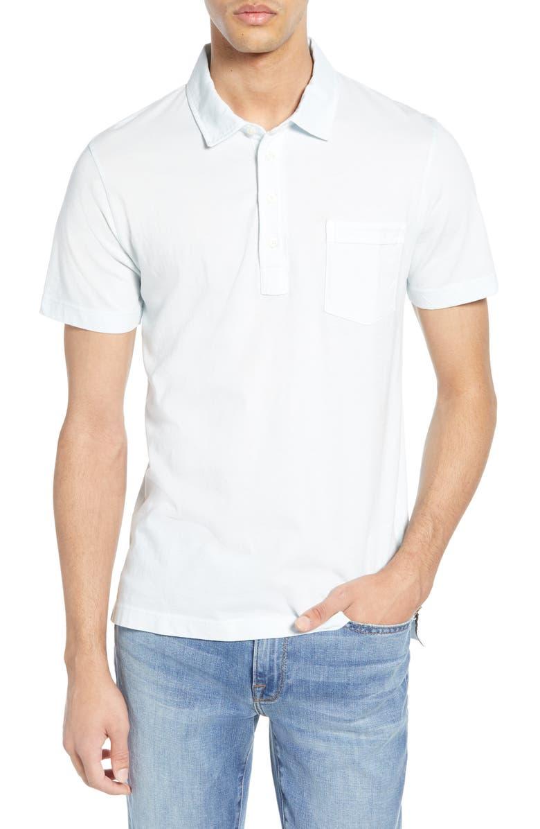 BILLY REID Pensacola Slim Fit Garment Dye Polo, Main, color, SKY BLUE