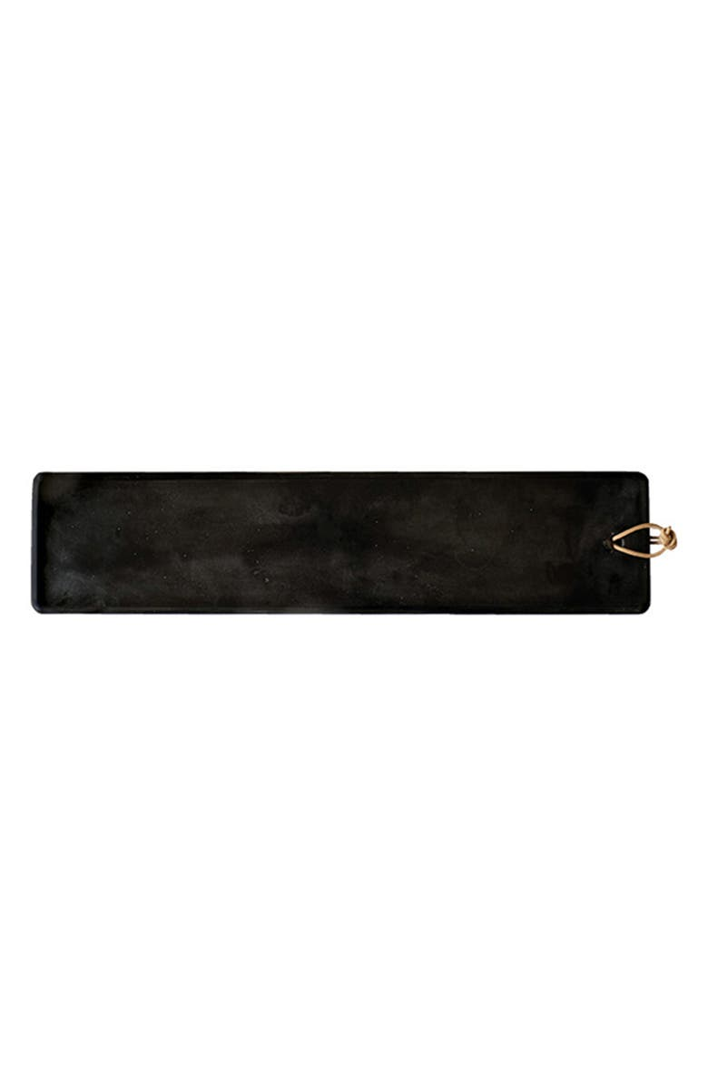CARAVAN Large Pepe Marble Cheese Board, Main, color, BLACK