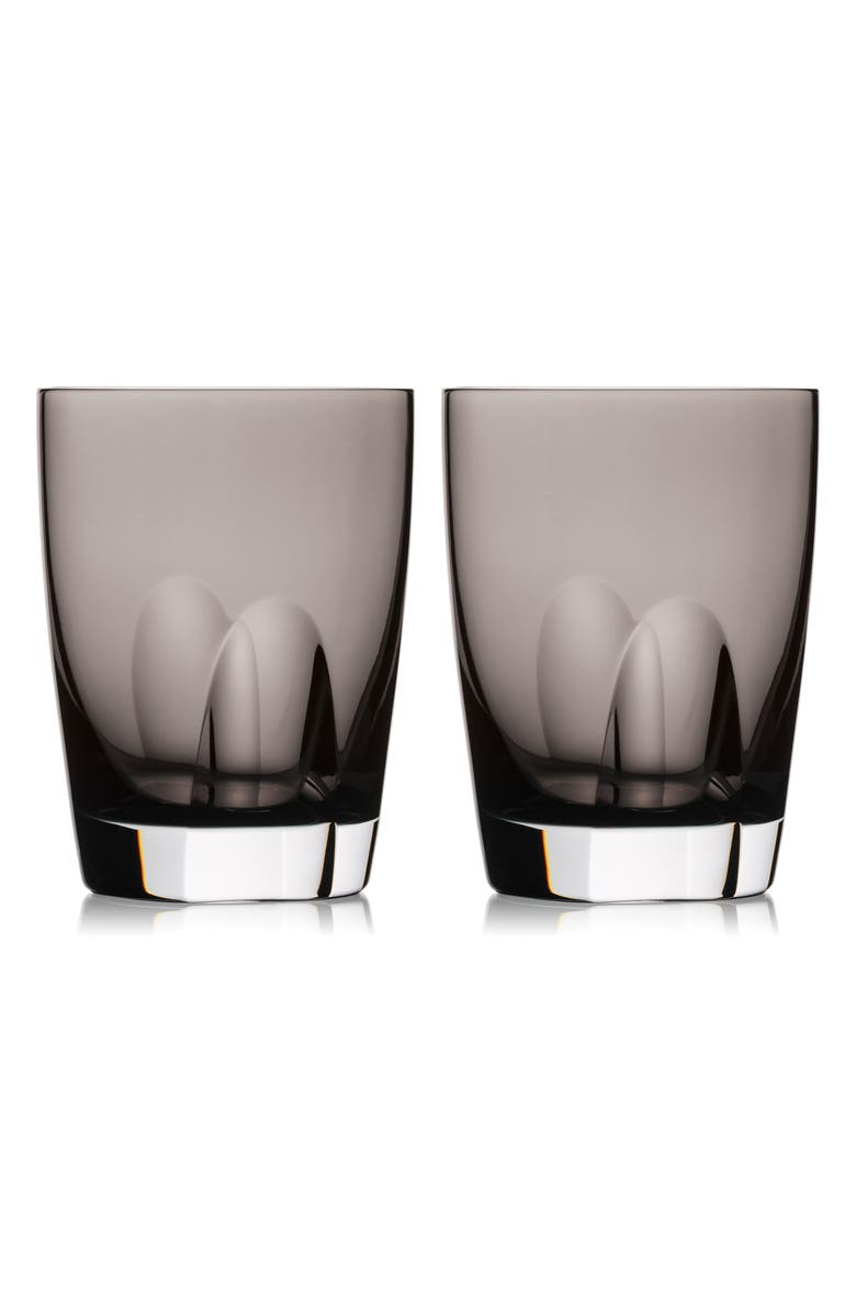WATERFORD Elegance Optic Set of 2 Lead Crystal Double Old Fashioned Glasses, Main, color, 021