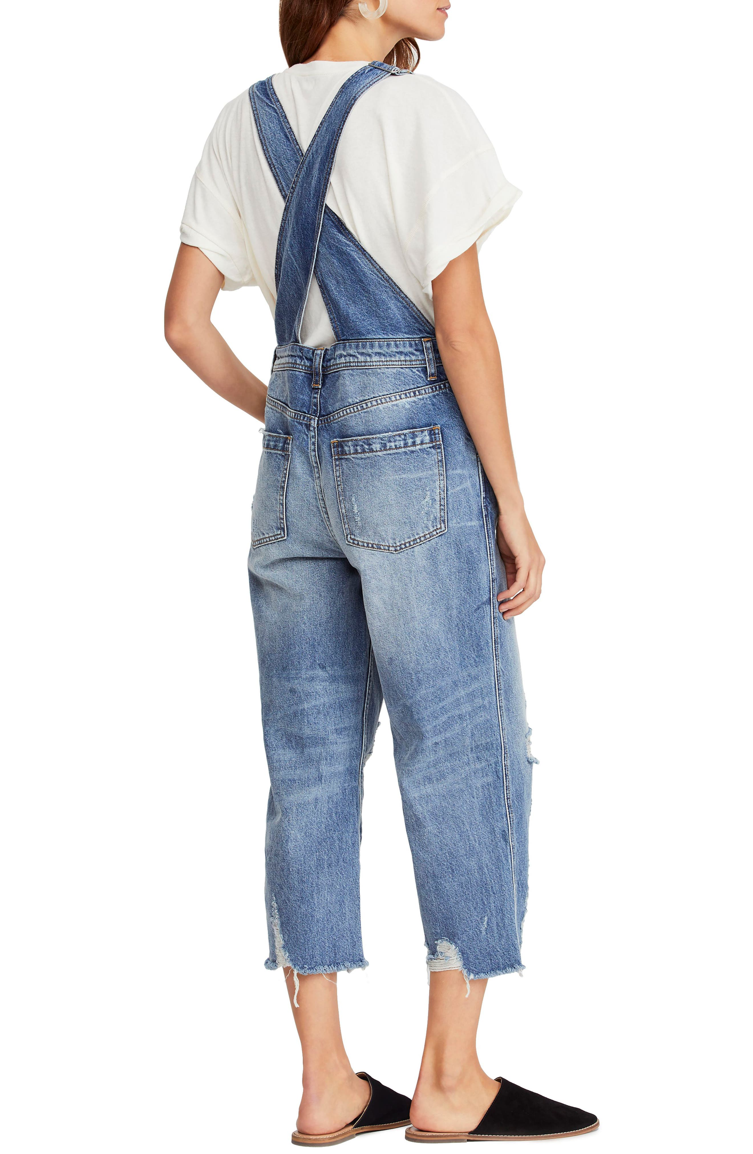 ,                             Baggy Crop Overalls,                             Alternate thumbnail 2, color,                             456