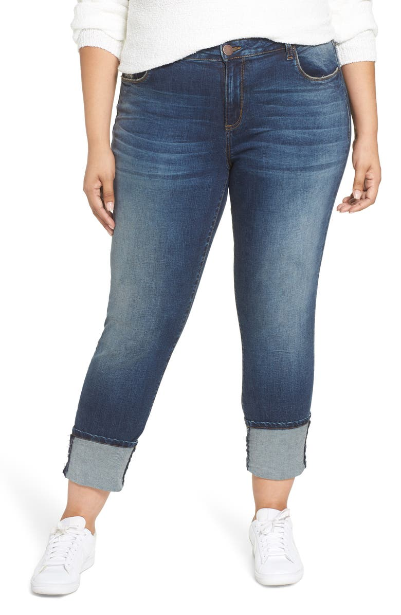 STS BLUE Ashley Cuff Crop Jeans, Main, color, NORTH MOSBY