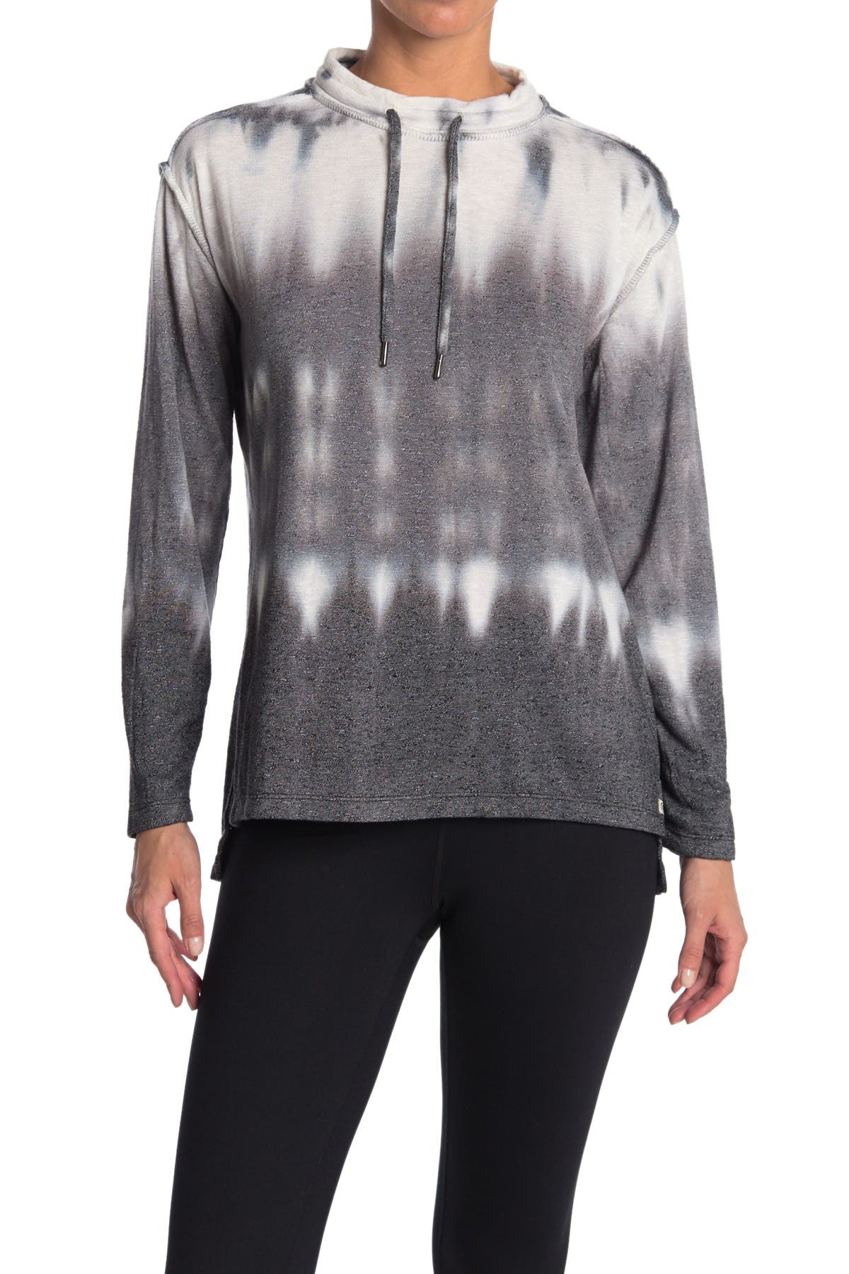 Image of Max Studio Twilight Tie Dye Drawstring Sweater