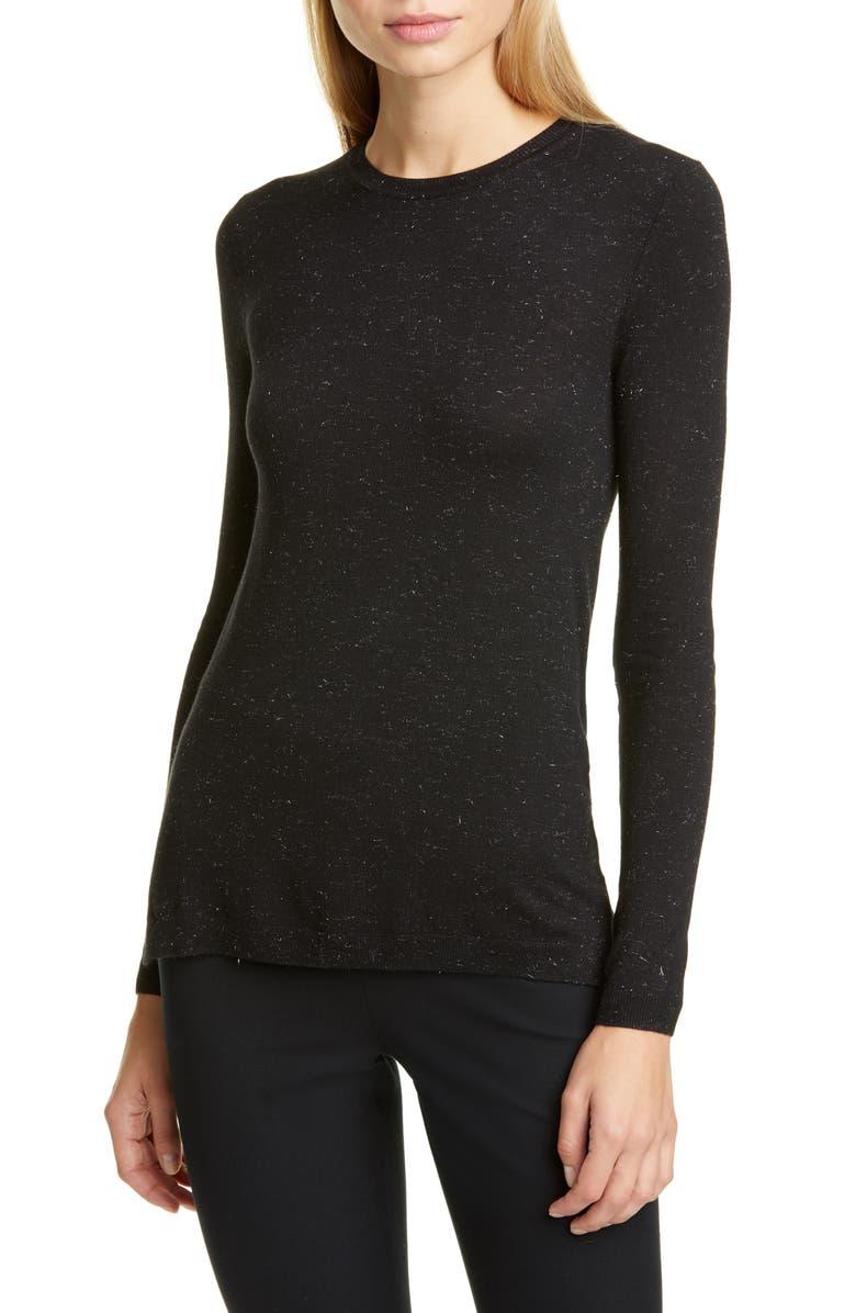 WHISTLES Annie Sparkle Sweater, Main, color, BLACK
