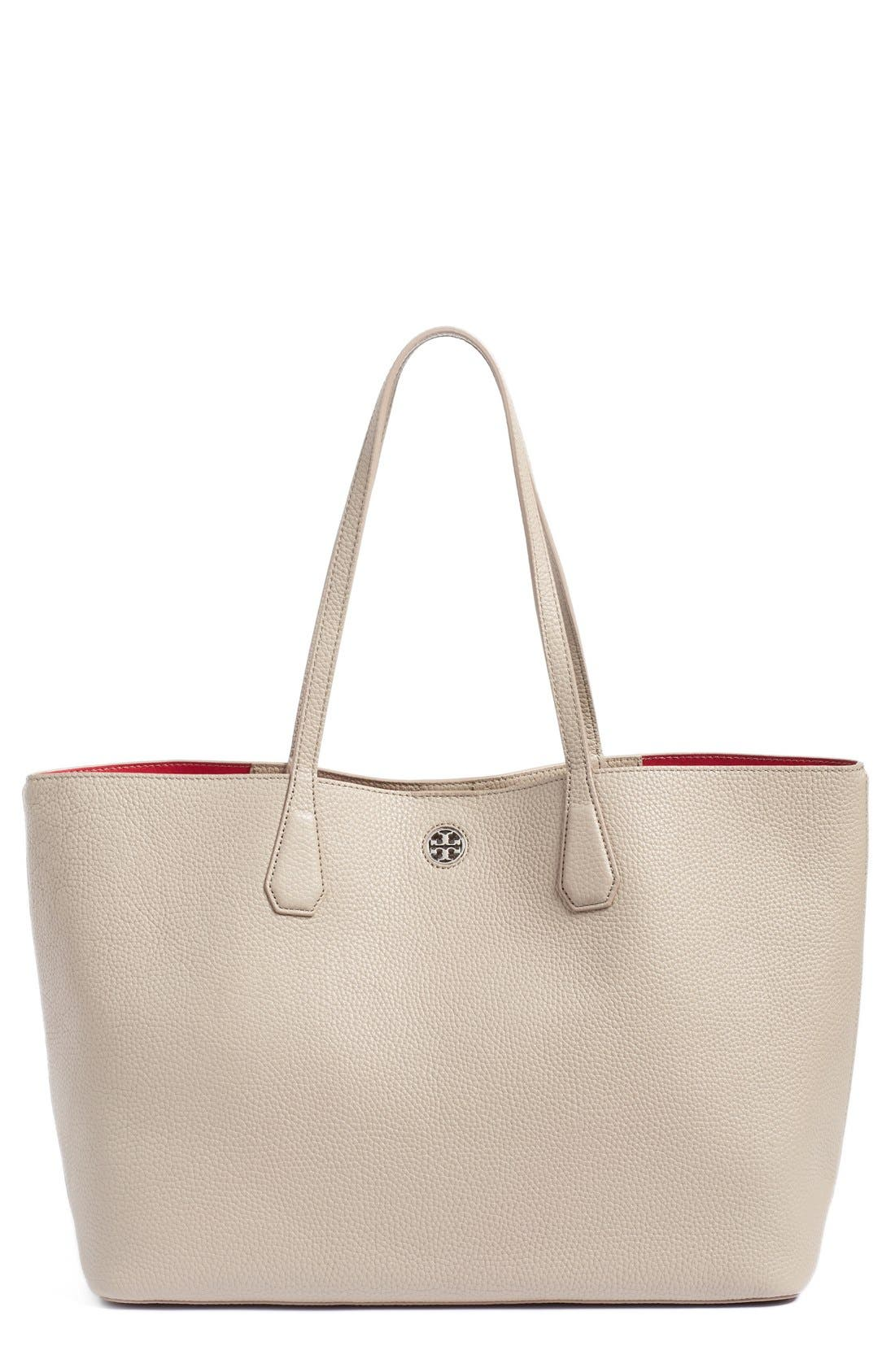 ,                             'Perry' Leather Tote,                             Main thumbnail 7, color,                             036