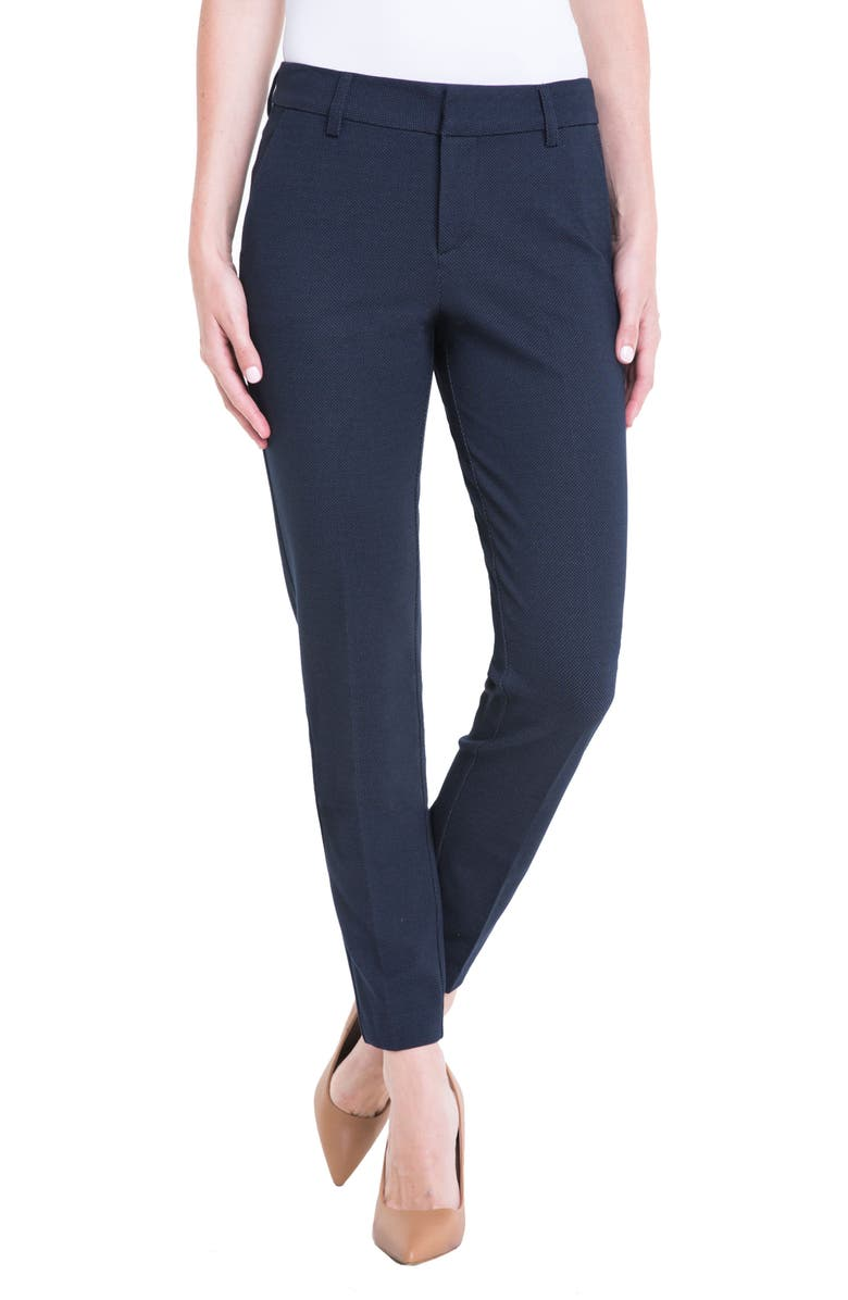 LIVERPOOL Kelsey Bird's Eye Trousers, Main, color, NAVY BIRDSEYE