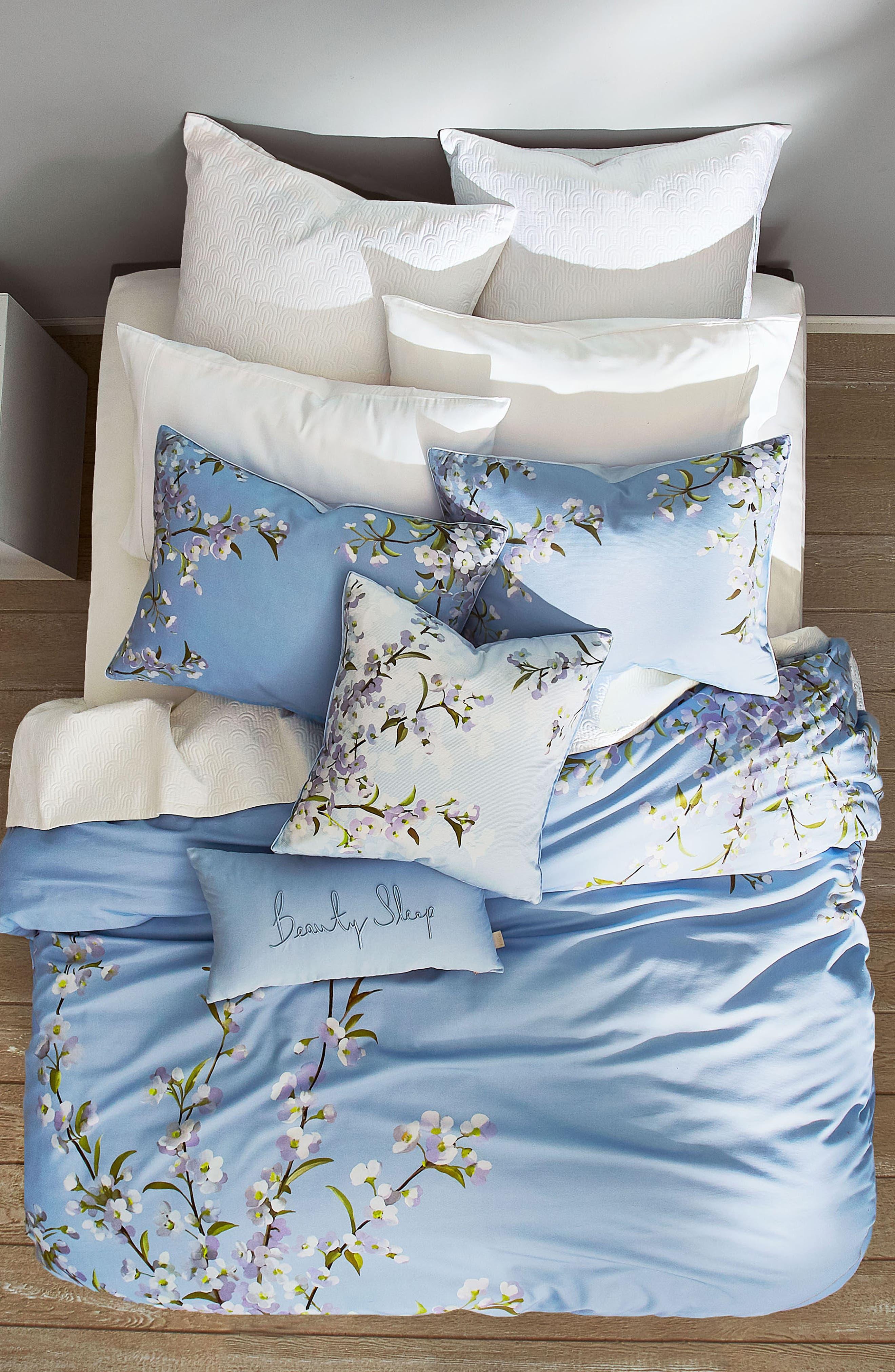 ,                             Graceful Comforter & Sham Set,                             Alternate thumbnail 3, color,                             BLUE