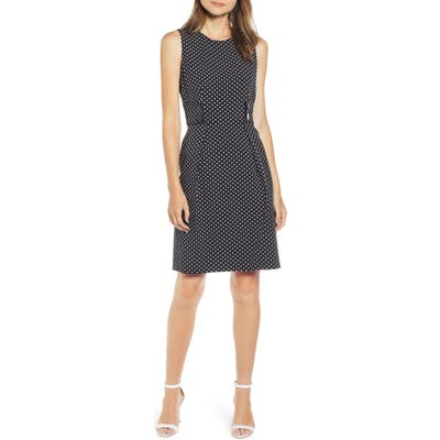 Anne Klein Posh Dot Sheath Dress, Black