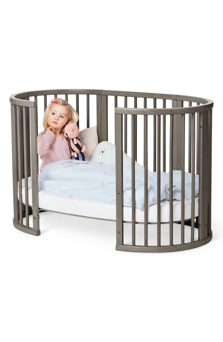 STOKKE Convertible Sleepi Crib & Toddler Bed, Main, color, HAZY GREY