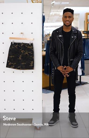 Camouflage Denim Miniskirt, sales video thumbnail