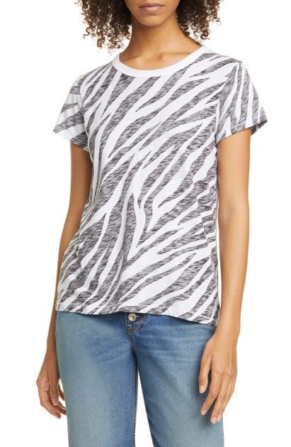 Rag & Bone Tops ZEBRA PRINT COTTON TEE
