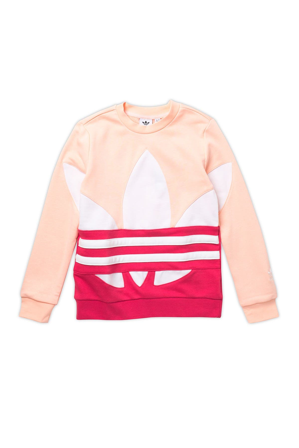 Image of ADIDAS ORIGINALS Big Trefoil Colorblock Pullover