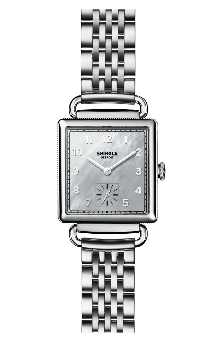 SHINOLA Cass Bracelet Watch, 27mm x 27mm, Main, color, 040