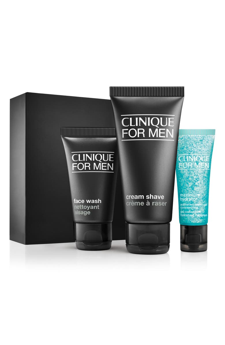 CLINIQUE for Men Daily Intense Hydration Starter Kit for Dry to Dry Combination Skin Types, Main, color, 000