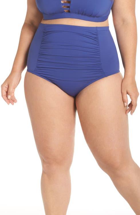 ae726b915b668 Becca Etc. Color Code High Waist Bikini Bottoms (Plus Size) | Nordstrom