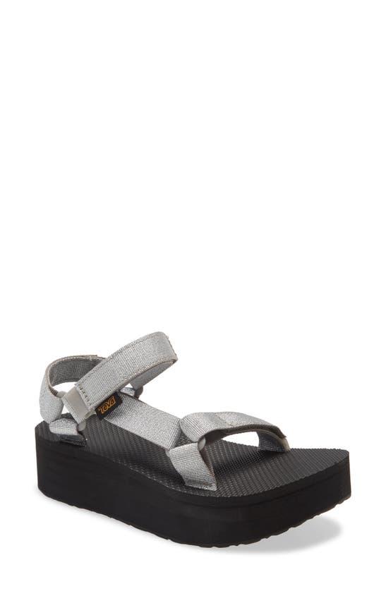 Teva Women's Flatform Universal Sandals Women's Shoes In Metallic Silver