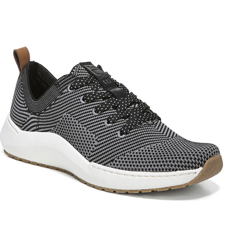 DR. SCHOLL'S Herzog Recycled Knit Sneaker, Main, color, BLACK FABRIC
