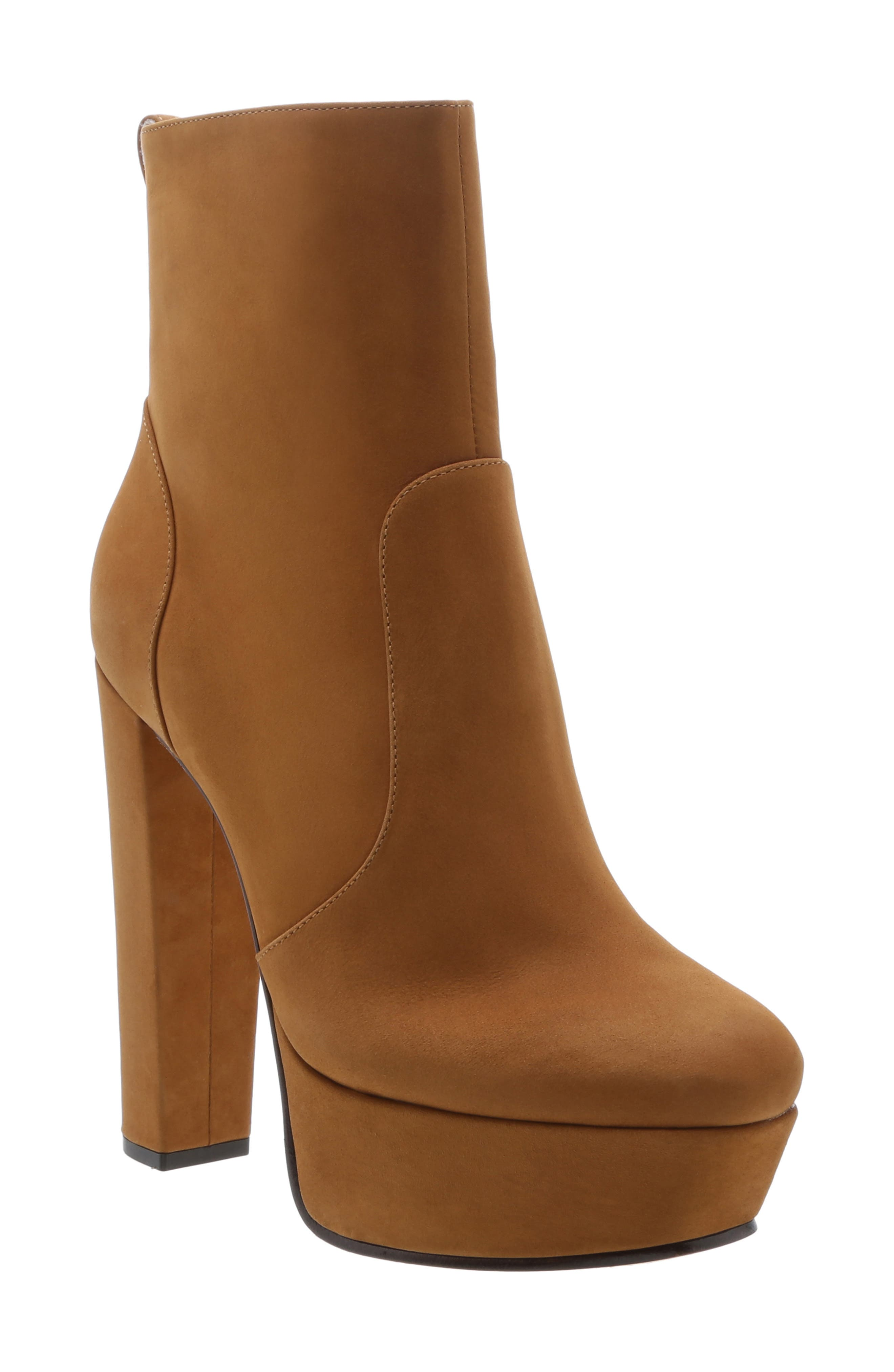 Image of Schutz July Leather Platform Ankle Boot