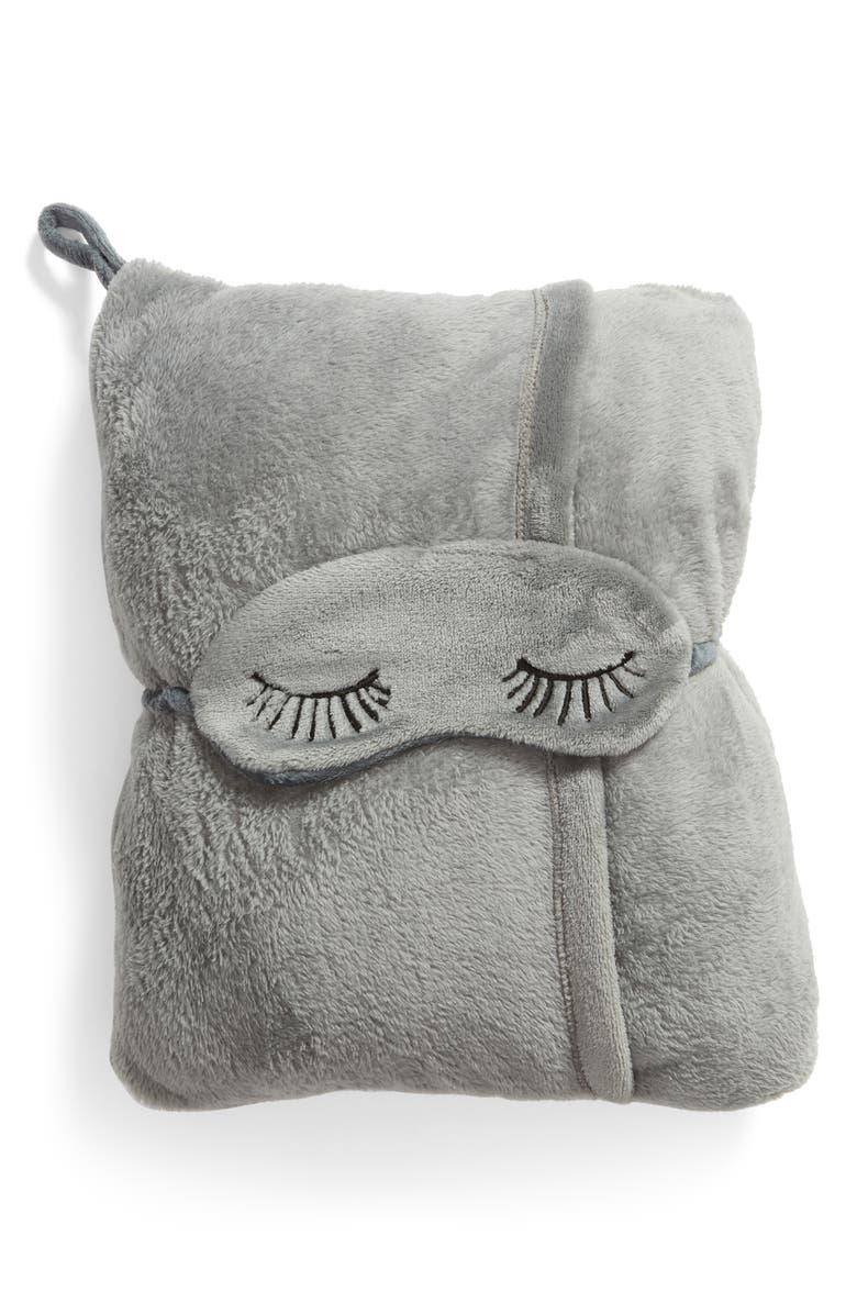 NORDSTROM AT HOME Eye Mask & Travel Blanket, Main, color, 020