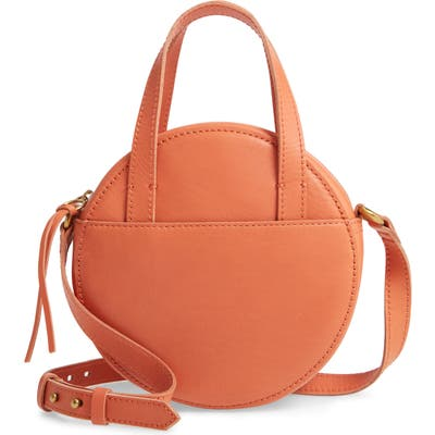 Madewell Juno Circle Leather Crossbody Bag - Coral