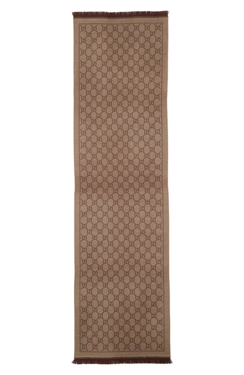 9c6f04b9 GG Jacquard Wool Scarf