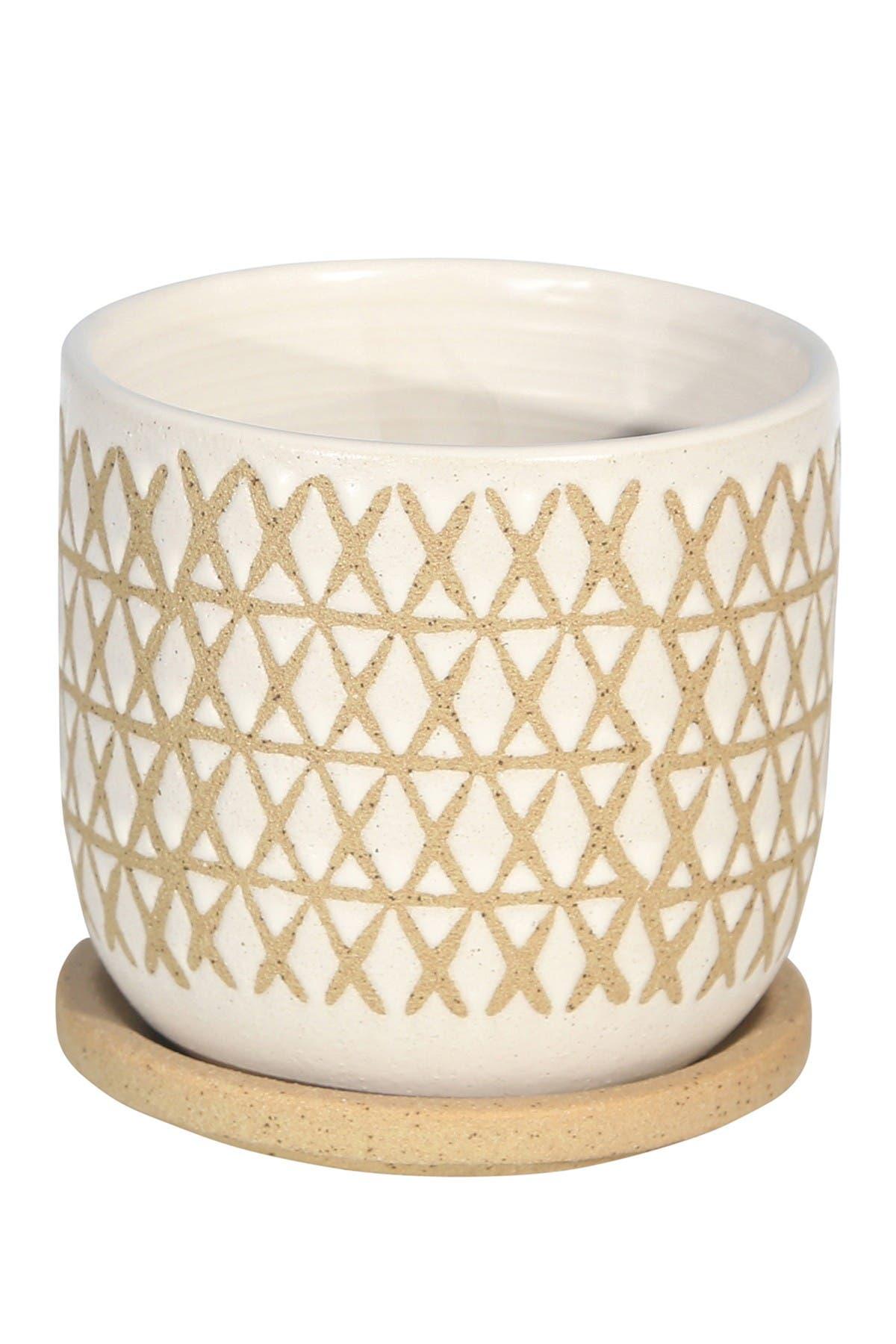 Sagebrook Home Sand Ceramic 5 Saucer Planter Nordstrom Rack