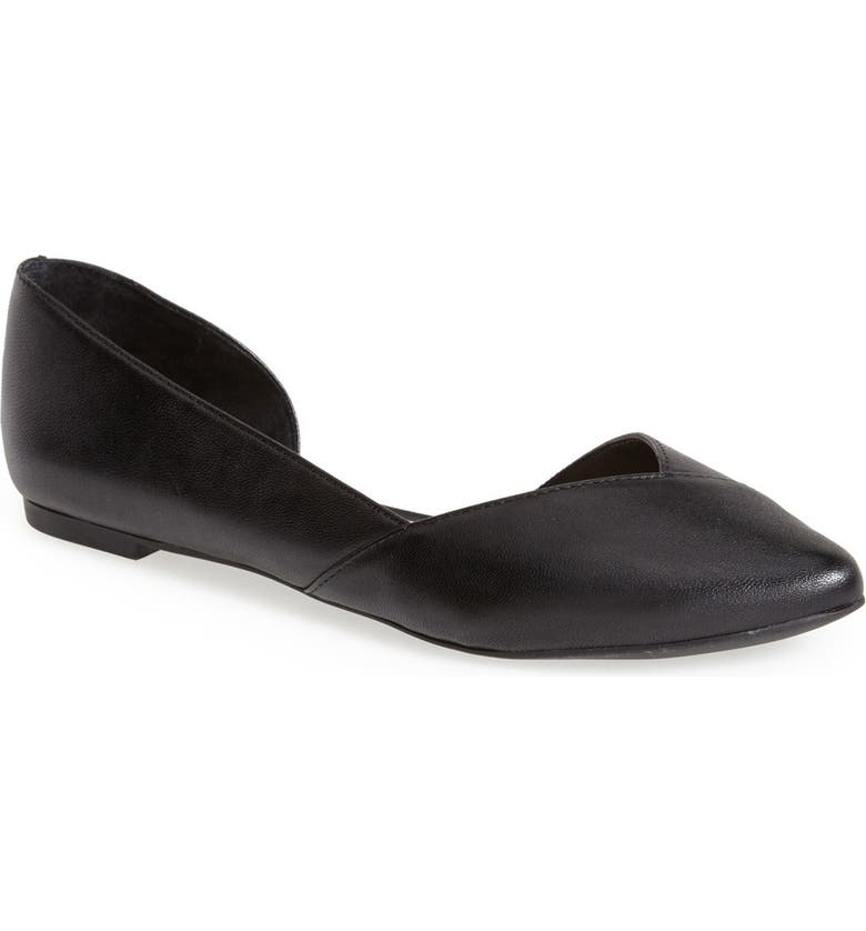 SOLE SOCIETY 'Danielle' Pointy Toe Flat, Main, color, 001